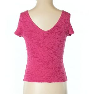 Topshop Pink Short Sleeve Top